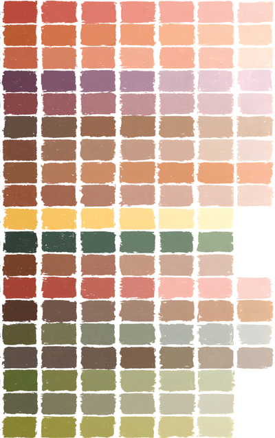 Soft pastels color chart at Great American ART WORKS.