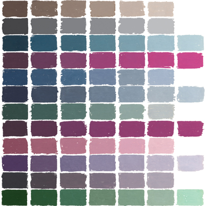 soft pastels color chart